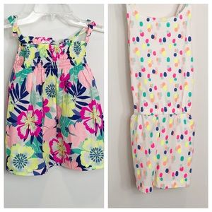 4T - NWT Bundle of 2 Carter's - 1 dress, 1 romper